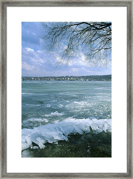 April Thaw - Lake Geneva Wisconsin Framed Print