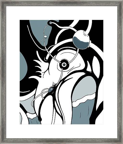 Aqua Grid Framed Print