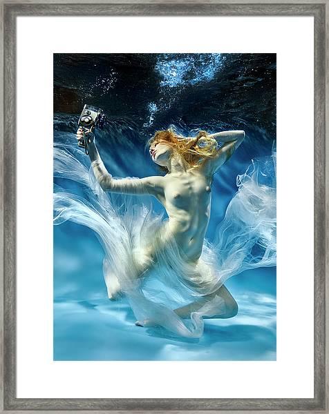 Aqua-theatre Framed Print by
