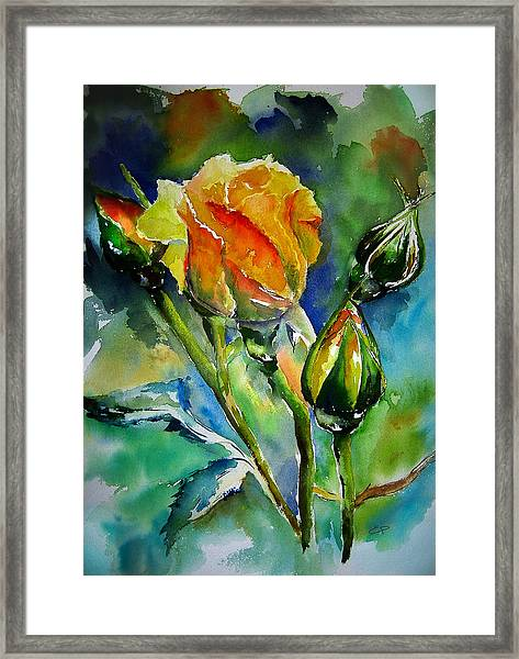 Framed Print featuring the painting Aquarelle by Elise Palmigiani