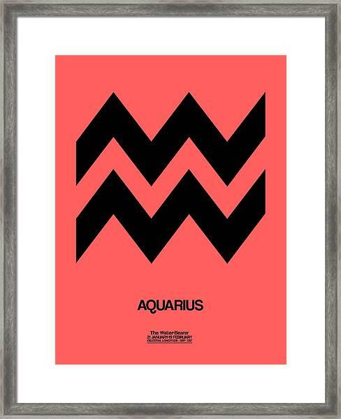 Aquarius Zodiac Sign Black Framed Print
