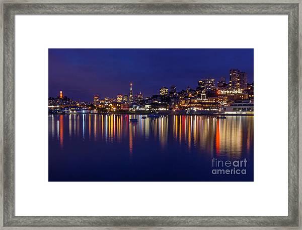 Aquatic Park Blue Hour Wide View Framed Print