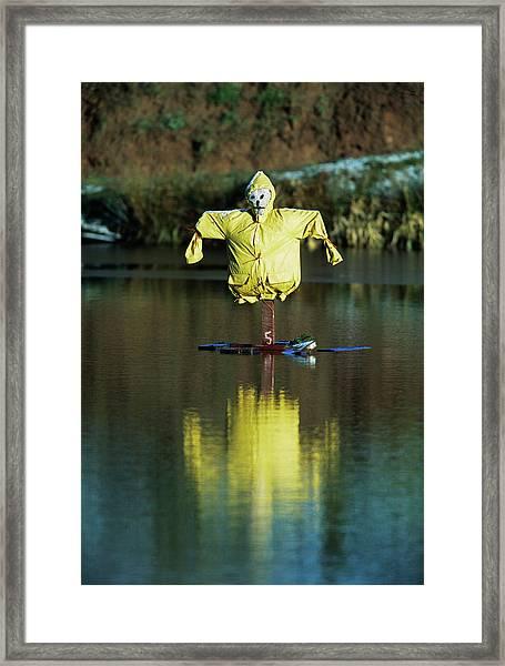 Aquatic Scarecrow Framed Print