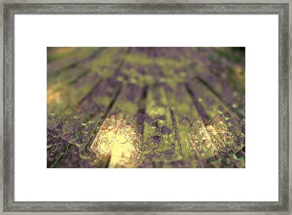Aqueous Chord Framed Print
