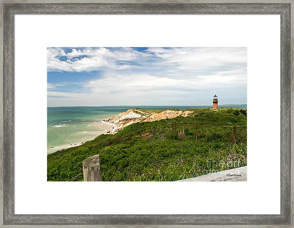 Aquinnah Gay Head Lighthouse Marthas Vineyard Massachusetts II Framed Print