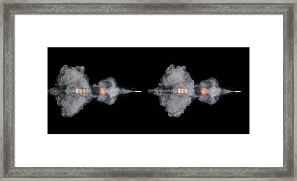Ar-15 Rifle Shot Framed Print
