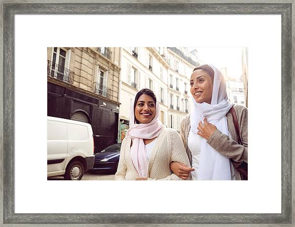 Arab Youth In Paris - Middle Eastern Millennials Framed Print by LeoPatrizi