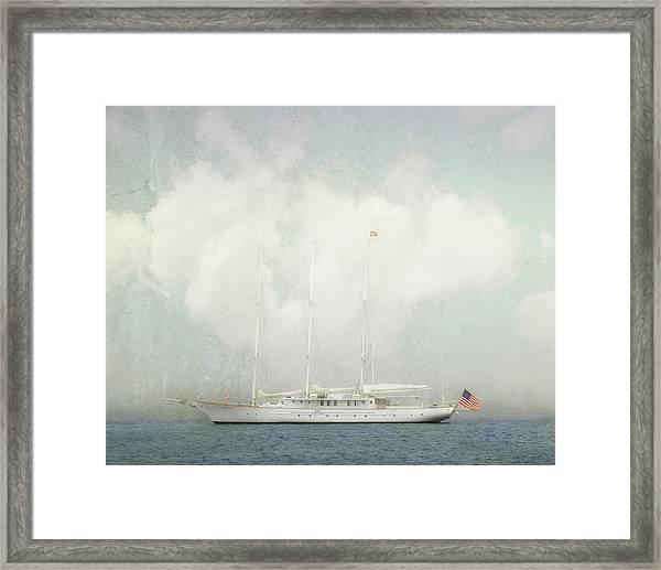 Arabella On Newport Harbor Framed Print