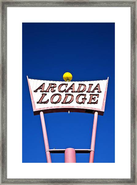 Arcadia Lodge Framed Print