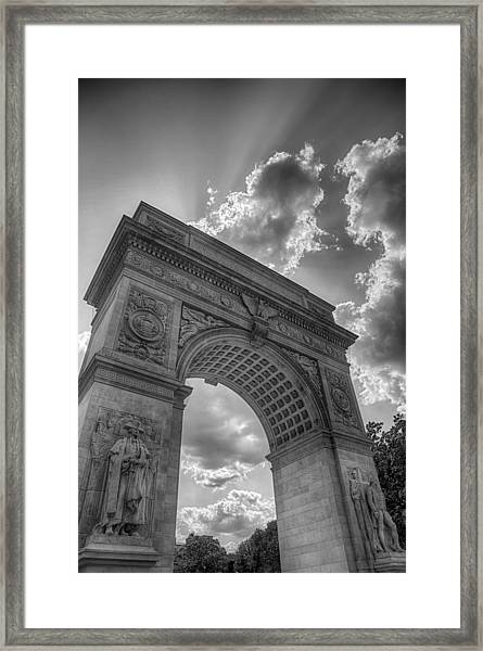 Arch At Washington Square Framed Print