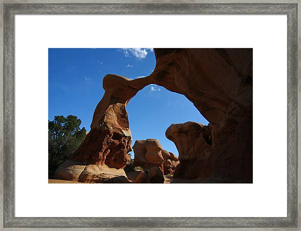 Arch In Devils Garden In Grand Escalante Nm Framed Print