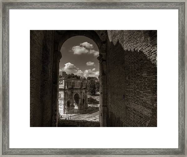 Arch Of Constantine From The Colosseum Framed Print