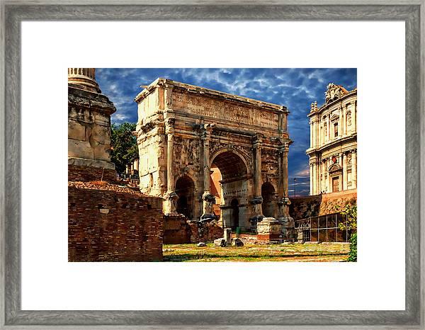 Arch Of Septimius Severus Framed Print