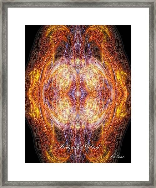 Archangel Uriel Framed Print