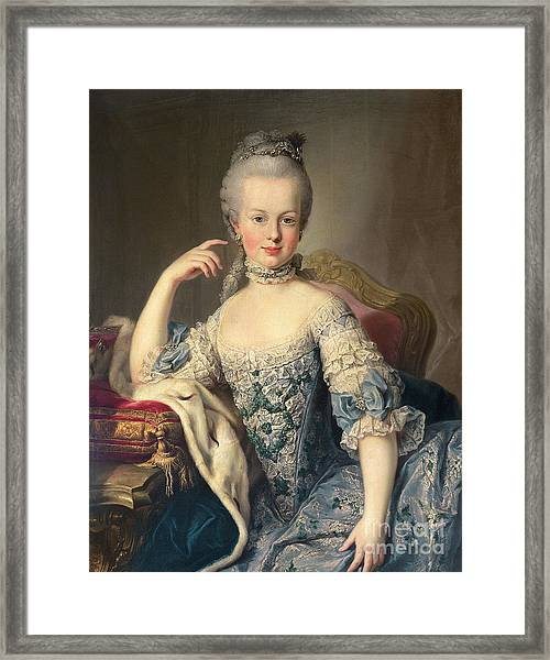 Archduchess Marie Antoinette Habsburg-lotharingen Framed Print