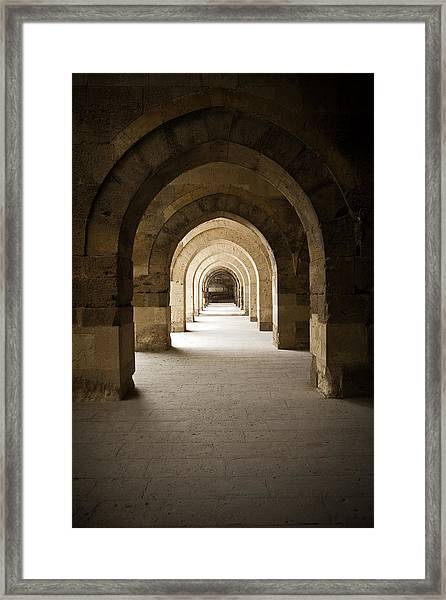 Arched Colonade Framed Print