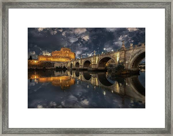 Arches And Clouds. Framed Print