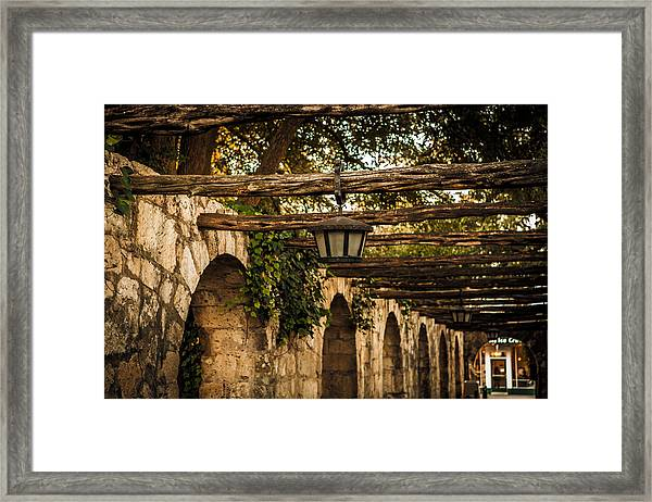 Arches At The Alamo Framed Print