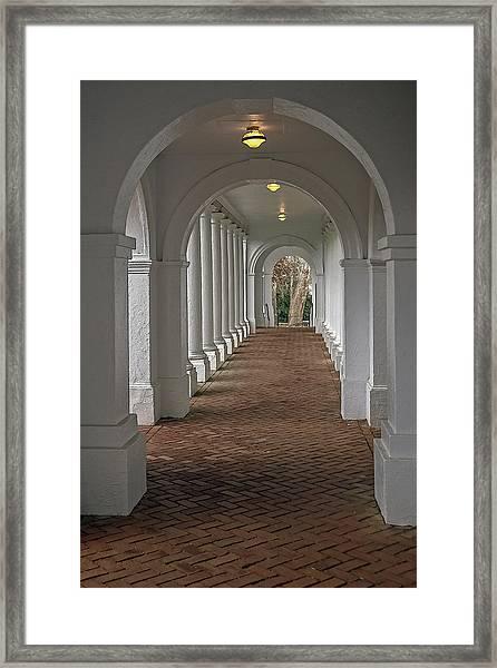 Arches At The Rotunda At University Of Va Framed Print