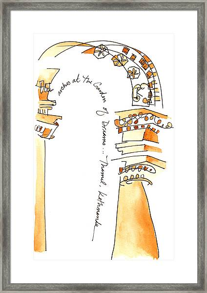 Arches In The Garden Of Dreams Framed Print