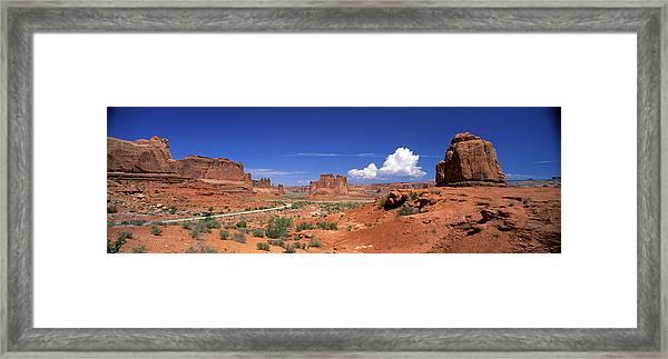 Arches National Park, Moab, Utah, Usa Framed Print