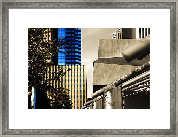 Architectural Crumpled Steel Gehry Framed Print