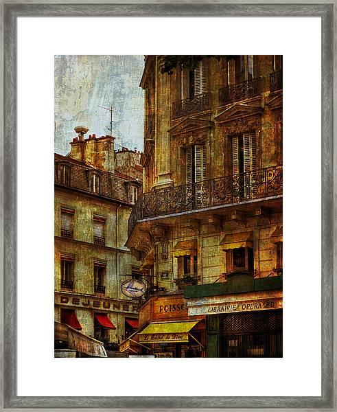 Architectural Detail Librairie Opera Paris Framed Print
