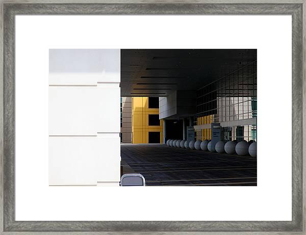 Architectural Pattern Spheres Framed Print