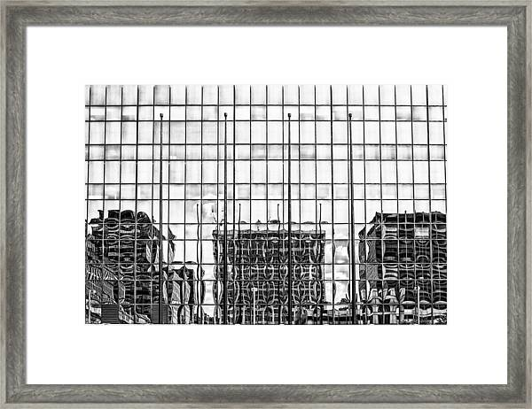 Architectural Reflection Framed Print