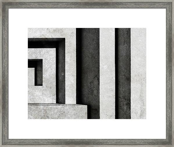 Architectural Signs II Framed Print by Luc Stalmans