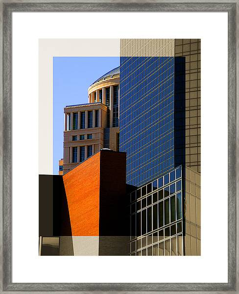 Architectural Stone Steel Glass Framed Print