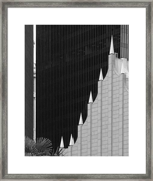 Architectural Trendlines Framed Print