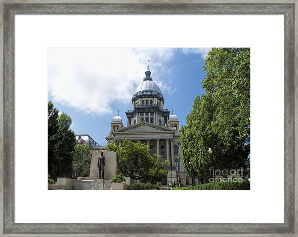Illinois State Capitol  - Luther Fine Art Framed Print