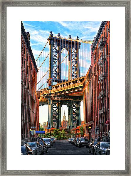 Architecture In New-york City Framed Print