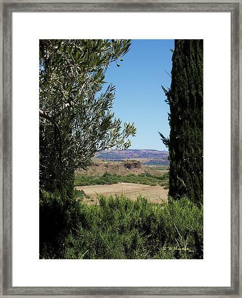 Arcosanti View Framed Print