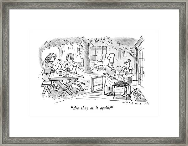 Are They At It Again? Framed Print