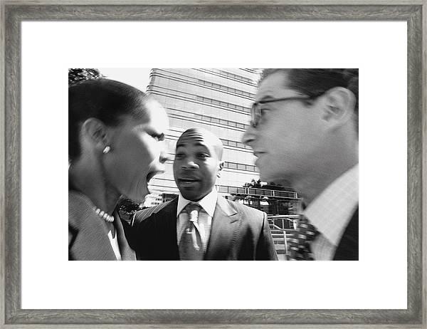Arguing Business People Framed Print by Digital Vision.