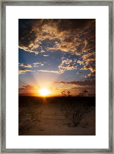 Arizona Desert Sunset Framed Print