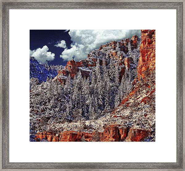 Arizona Secret Mountain Wilderness In Winter Framed Print