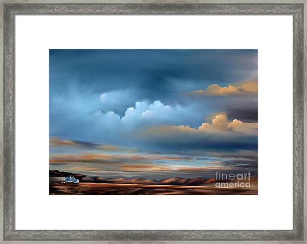 Arizona Skies Framed Print