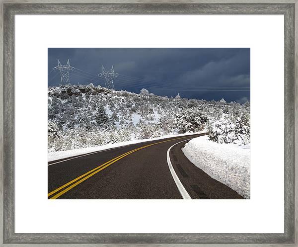 Arizona Snow 2 Framed Print