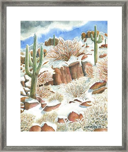 Arizona The Christmas Card Framed Print