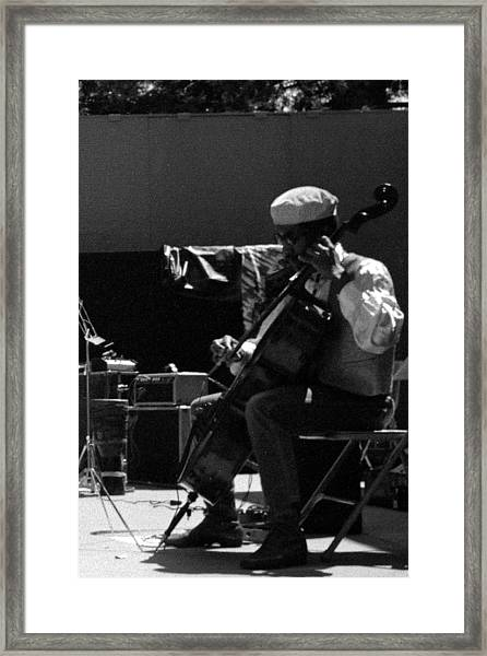 Arkestra Cellist Uc Davis Quad Framed Print