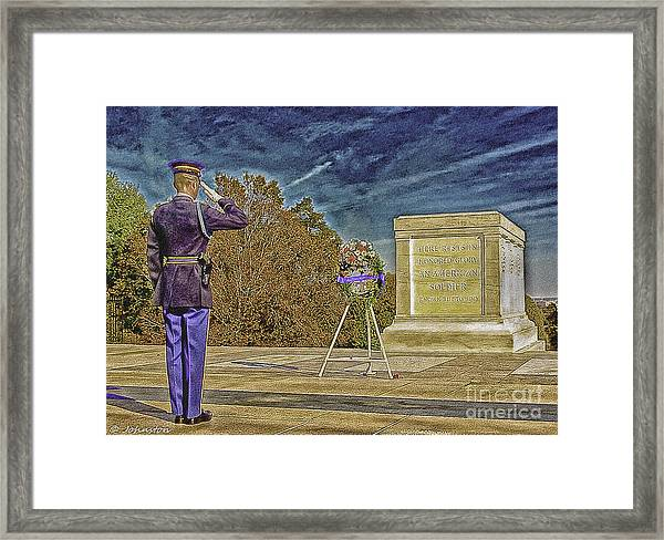 Arlington Cemetery Tomb Of The Unknowns Framed Print