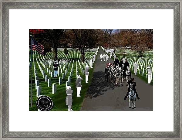 Arlington National Cemetery Framed Print by Michael Rucker