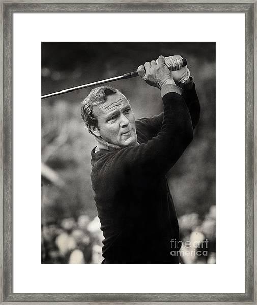 Arnold Palmer Pro-am Golf Photo Pebble Beach Monterey Calif. Circa 1960 Framed Print