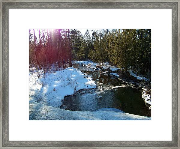 Aroostook Stream Framed Print