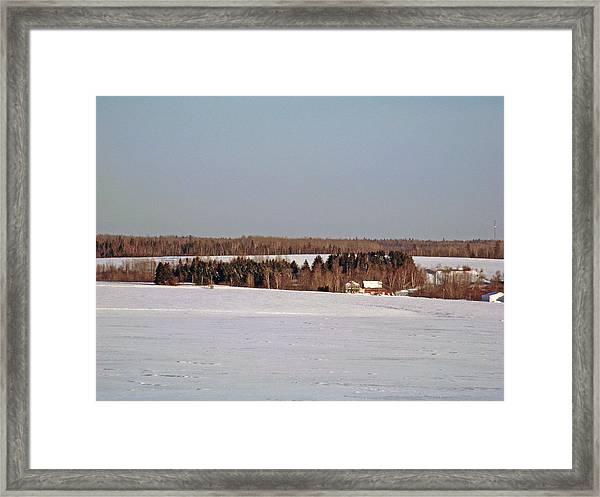 Aroostook Winterscape Framed Print