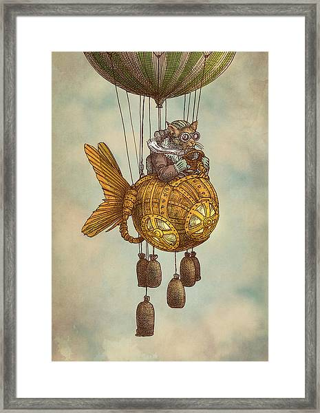 Around The World In The Goldfish Flyer Framed Print