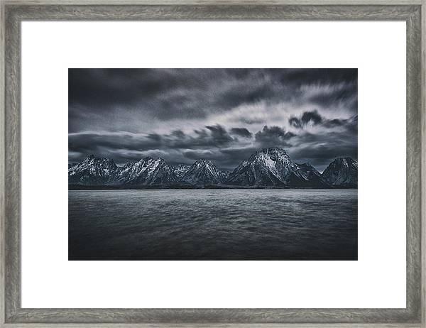 Arriving Storm Framed Print by Robert Fawcett